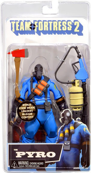 NECA Team Fortress 2 BLU Series 1 The Pyro Action Figure