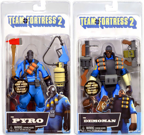 NECA Team Fortress 2 BLU Series 1 Set of 2 Action Figures