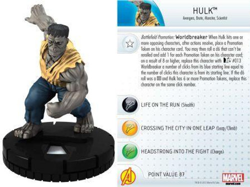 Marvel 10th Anniversary HeroClix Hulk #002