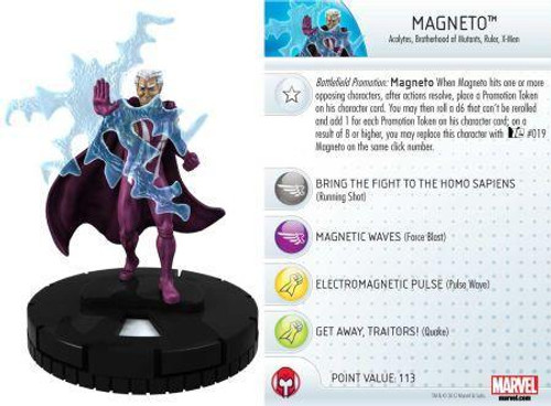 Marvel 10th Anniversary HeroClix Magneto #015