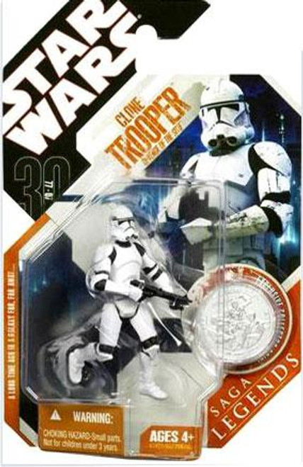 Star Wars Revenge of the Sith Saga Legends 2007 30th Anniversary Clone Trooper Action Figure #7 [Revenge of the Sith]