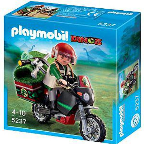 Playmobil Dinos Explorer with Motorcycle Set #5237