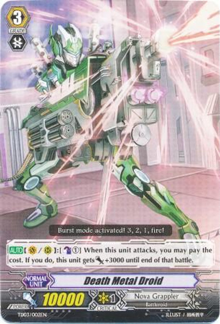 Cardfight Vanguard Golden Mechanical Soldier Trial Deck Fixed Death Metal Droid TD03-002