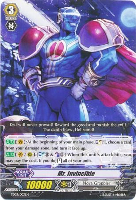 Cardfight Vanguard Golden Mechanical Soldier Trial Deck Fixed Mr. Invincible TD03-003