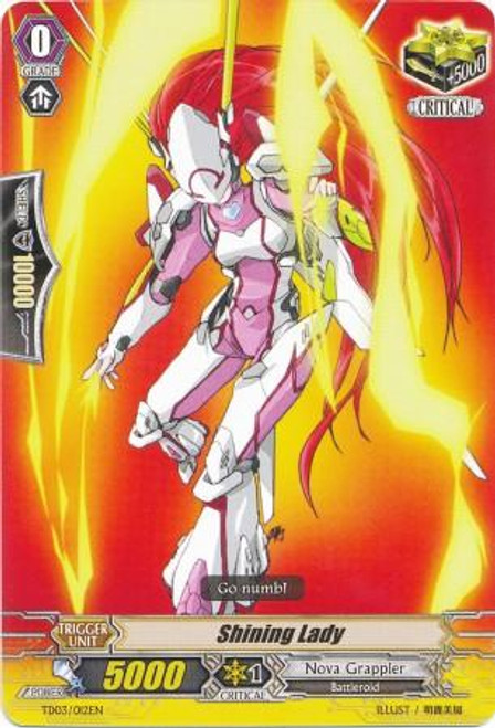 Cardfight Vanguard Golden Mechanical Soldier Trial Deck Fixed Shining Lady TD03-0012