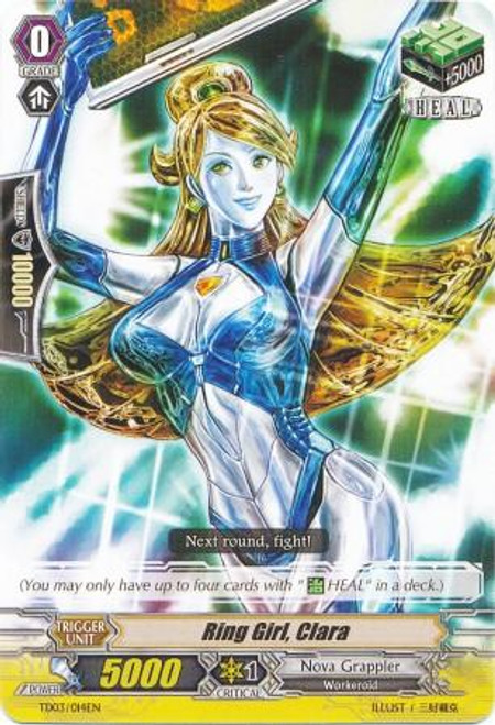 Cardfight Vanguard Golden Mechanical Soldier Trial Deck Fixed Ring Girl, Clara TD03-0014