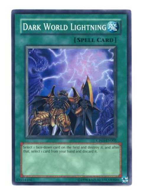 YuGiOh GX Champion Pack: Game 3 Super Rare Dark World Lightning CP03-EN005