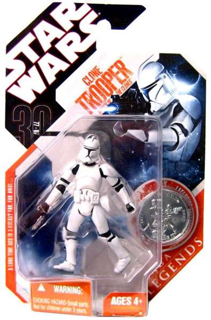 Star Wars Attack of the Clones Saga Legends 2007 30th Anniversary Clone Trooper Action Figure #10 [Episode II]
