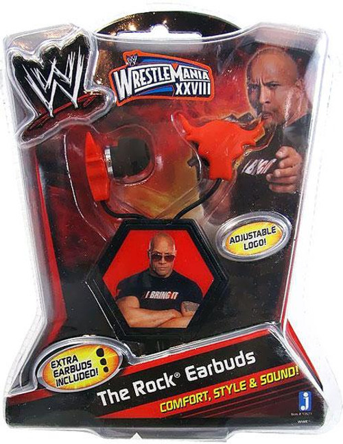 WWE Wrestling The Rock Earbuds [Used]