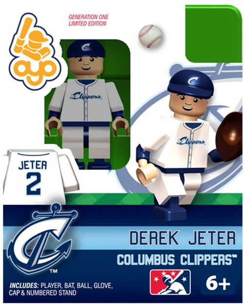 Columbus Clippers MLB Generation One Derek Jeter Minifigure [Clippers]