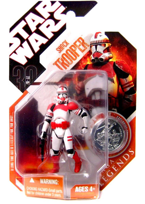 Star Wars Revenge of the Sith Saga Legends 2007 30th Anniversary Shock Trooper Action Figure #8