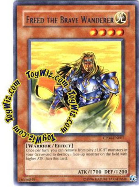 YuGiOh GX Champion Pack: Game 4 Rare Freed the Brave Wanderer CP04-EN007