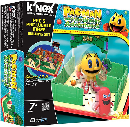 K'NEX Pac-Man Pac Man and the Ghostly Adventures Pac's Pac World Maze Set #64521