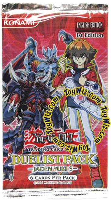 YuGiOh Duelist Pack Jaden Yuki 3 Booster Pack