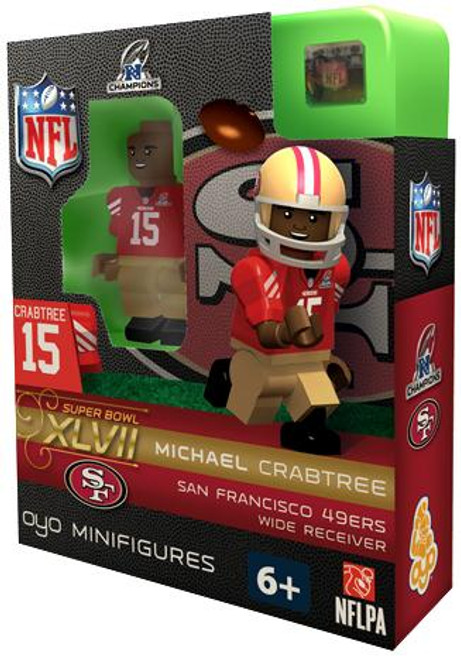 San Francisco 49ers NFL Super Bowl XLVII Michael Crabtree Minifigure