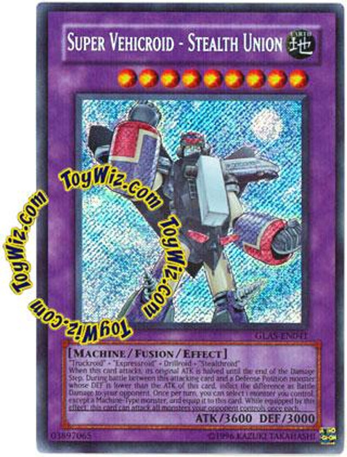 YuGiOh GX Gladiator's Assault Secret Rare Super Vehicroid - Stealth Union GLAS-EN041