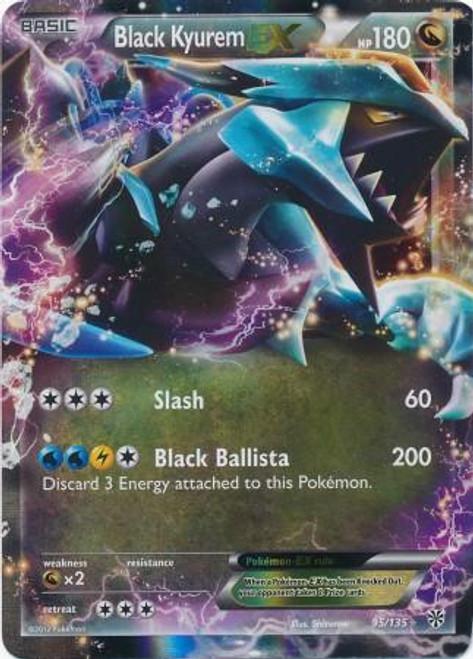 Pokemon Black & White Plasma Storm Ultra Rare Holo Black Kyurem-EX #95