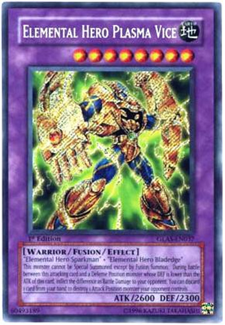 YuGiOh GX Gladiator's Assault Secret Rare Elemental Hero Plasma Vice GLAS-EN037