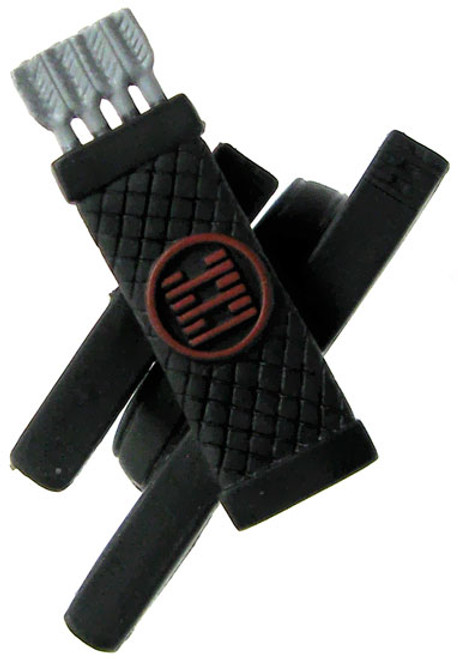 GI Joe Loose Weapons Quiver & Sheaths with Red Markings Action Figure Accessory [Black Loose]
