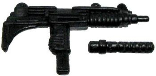 GI Joe Loose Weapons Uzi with Removeable Silencer Action Figure Accessory [Black Loose]
