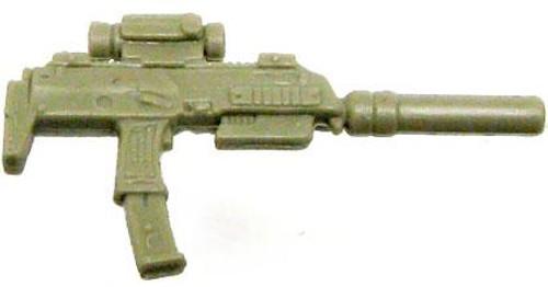 GI Joe Loose Weapons Silenced Uzi Action Figure Accessory [Dark Tan Loose]