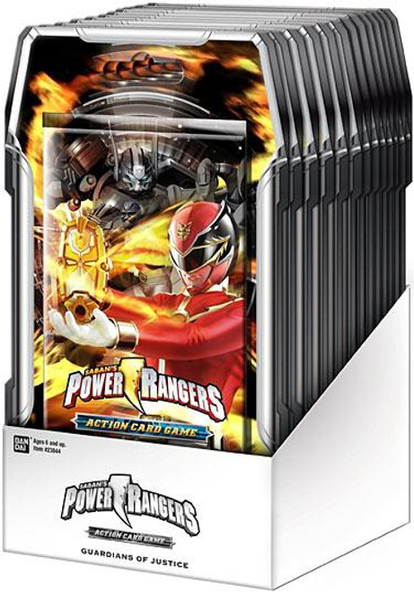 Power Rangers Action Card Game Guardians of Justice Booster Box