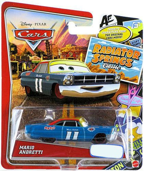 Disney Cars Radiator Springs Classic Mario Andretti Exclusive Diecast Car