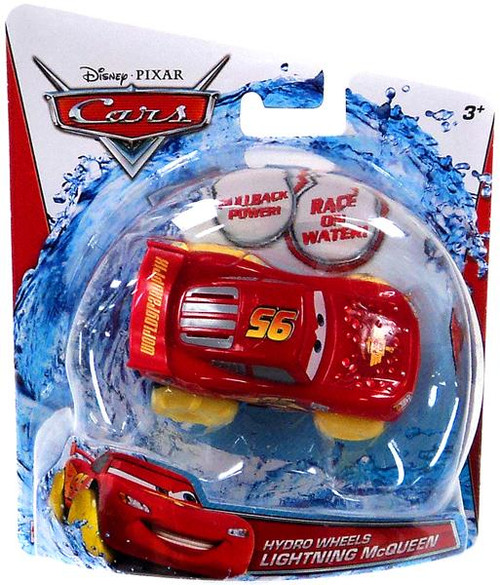Disney Cars Hydro Wheels Lightning McQueen Plastic Car