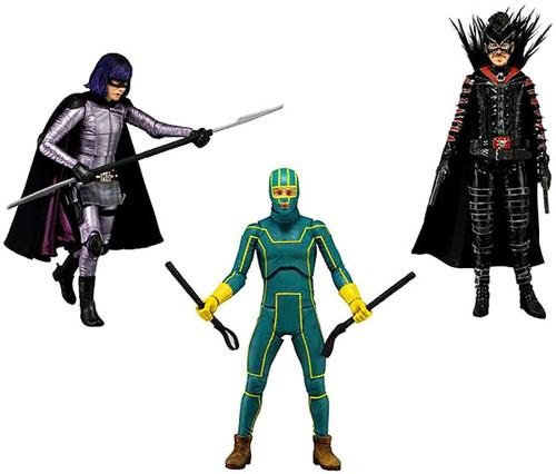 NECA Kick-Ass Kick Ass 2 Series 1 Set of 3 Action Figures