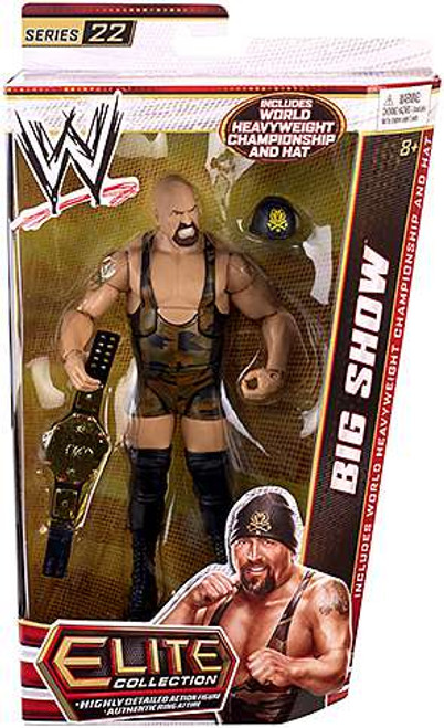 WWE Wrestling Elite Series 22 Big Show Action Figure [World Heavyweight Championship Belt & Hat]