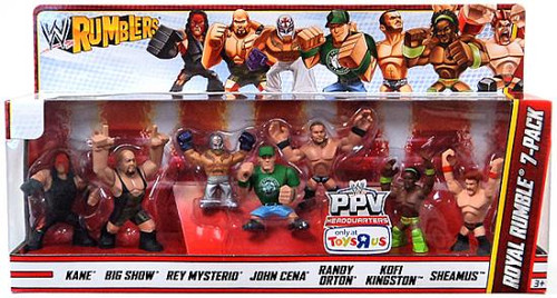 WWE Wrestling Rumblers Series 3 Royal Rumble 7-Pack Exclusive Mini Figure Set