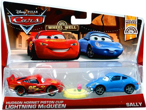 Disney Cars Series 3 Hudson Hornet Piston Cup Lightning McQueen & Sally Diecast Car 2-Pack