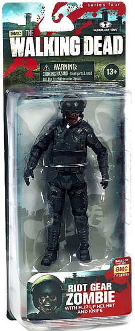 McFarlane Toys Walking Dead AMC TV Series 4 Riot Gear Zombie Action Figure [Without Gas Mask]