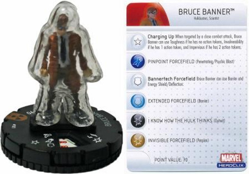 Marvel HeroClix Incredible Hulk LE Bruce Banner #101