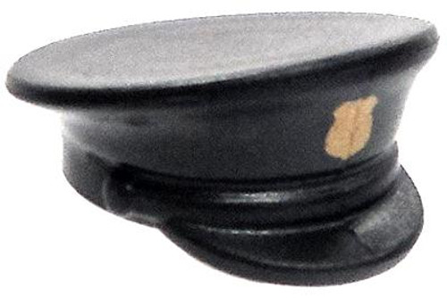 Brickforge Minifigure Parts Officer Hat 2.5-Inch Accessory [Black with Gold Shield]