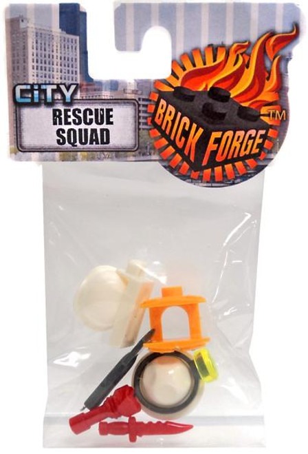 Brickforge City Minifigure Parts Rescue Squad 2.5-Inch Pack