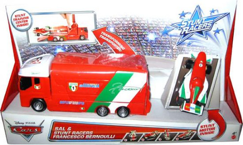 Disney Cars Stunt Racers Sal & Francesco Bernoulli Plastic Car 2-Pack