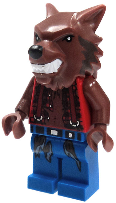 LEGO Monster Fighters Loose Werewolf Minifigure [Tattered Red Shirt & Blue Pants Loose]