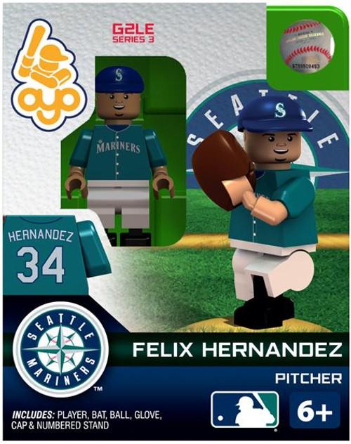 Seattle Mariners MLB Generation 2 Series 3 Felix Hernandez Minifigure