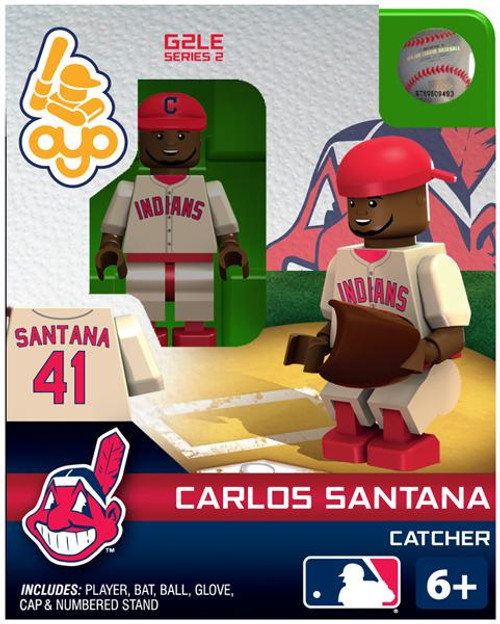 Cleveland Indians MLB Generation 2 Series 2 Carlos Santana Minifigure
