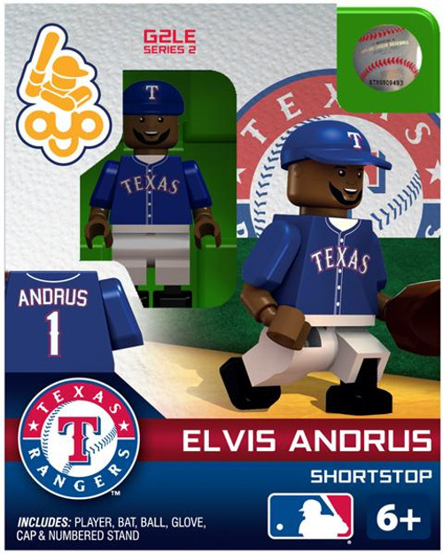 Texas Rangers MLB Generation 2 Series 2 Elvis Andrus Minifigure