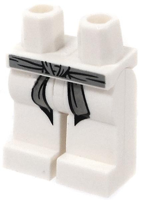 LEGO Star Wars Minifigure Parts White Hips and Legs with Gray Belt and Black Markings Loose Legs [Loose]
