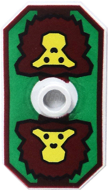 LEGO Castle Shields Large Twin Lion Sigil on Green Field Shield [Loose]
