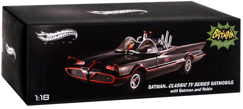 Batman 1966 TV Series Hot Wheels Elite Batmobile Diecast Vehicle [1966]