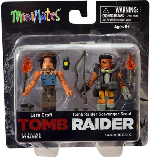 Tomb Raider Minimates Lara Croft & Scavenger Scout Minifigure 2-Pack