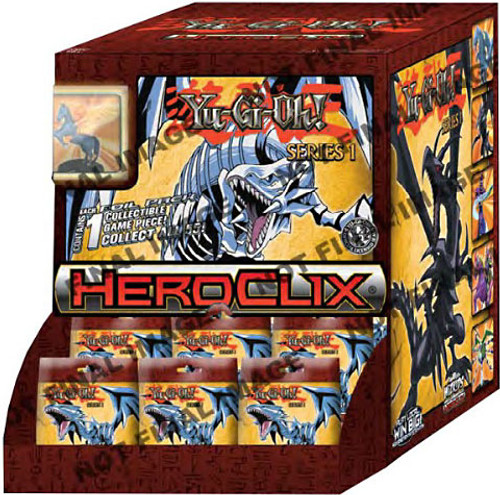 YuGiOh HeroClix Series 1 Booster Box [24 Packs] [Sealed]