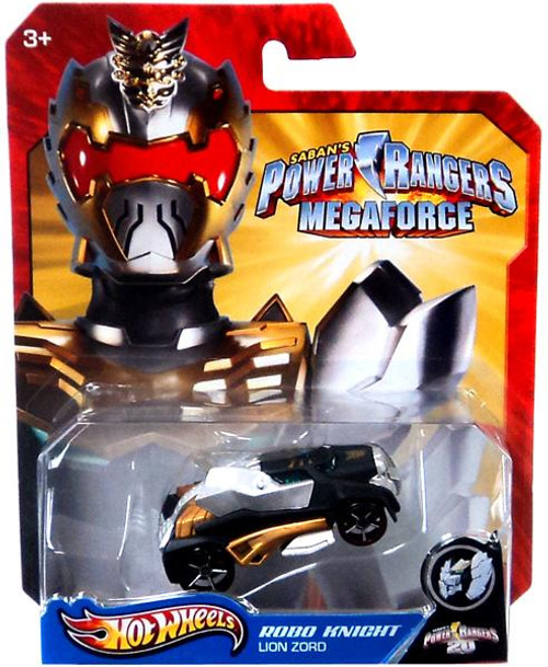 Power Rangers Megaforce Hot Wheels Robo Knight Lion Zord Diecast Car