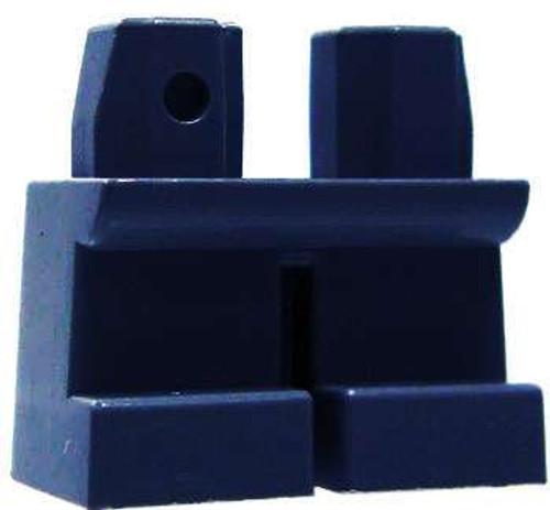 LEGO Minifigure Parts Short Dark Blue Loose Legs [Loose]