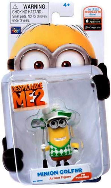 Despicable Me 2 Minion Golfer Action Figure