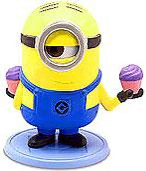Despicable Me 2 Minion Surprise Stuart 2-Inch PVC Figure [Holding Cupcakes Loose]